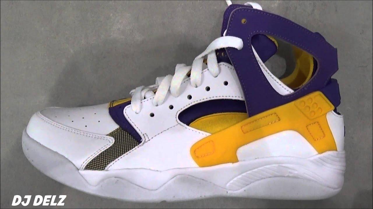 online store d887f 224f8 Nike Air Flight Huarache Kobe Bryant PE Lakers Sneaker With  DjDelz ...