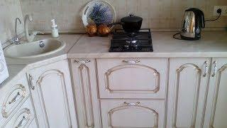 Обзор кухни, после ремонта. Установка мебели.
