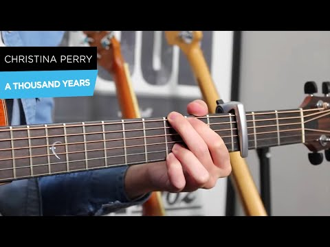 A Thousand Years  Christina Perri Guitar Lesson Tutorial