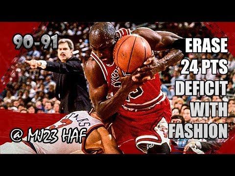 Michael Jordan Highlights Vs Knicks (1991.04.04) - 34pts, Epic 24pts Comeback!