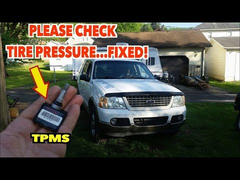 TPMS ~FAULT~ Fixed! Simple Steps To Get That Warning Light Off. Explorer.