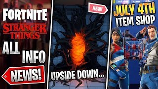 Fortnite x Stranger Things PORTALS, Skins & Event!, July 4th Skins & Contrail! (Fortnite News)