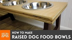 Raised Dog Food Bowls // How-To
