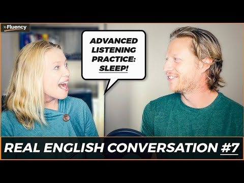 Advanced English Conversation Lesson #7: Sleep 😴 (learn real English w/ subtitles)