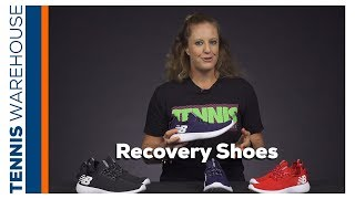 Recover off the tennis court in New Balance RCVRY Shoes