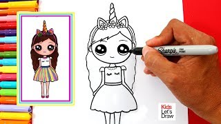 Aprende a Dibujar una CHICA UNICORNIO Kawaii | How to Draw a Cute Unicorn Girl