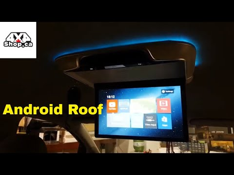 Installation Roof Mount Flip Down Android Multimedia USB HDMI Input