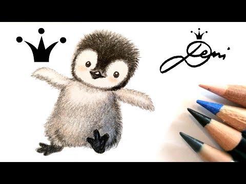 Pinguin Zeichnen Lernen Myhiton