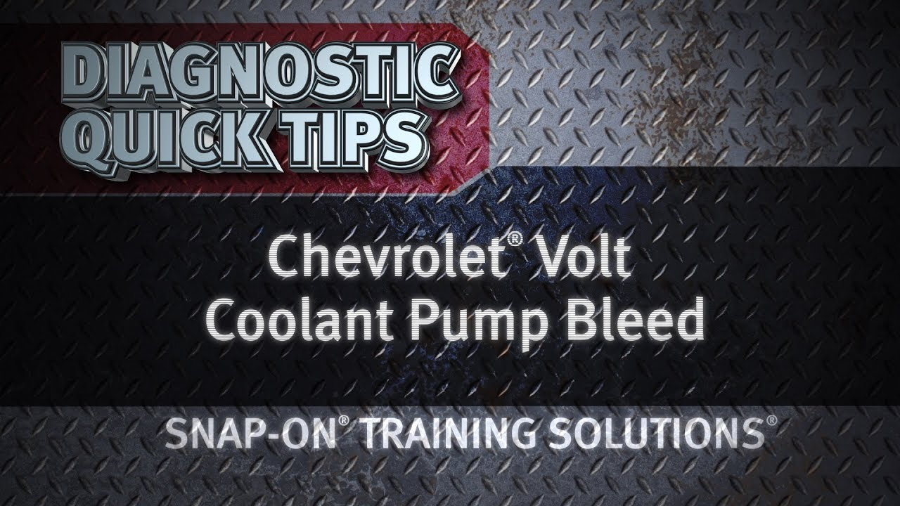Diagnostic Quick Tips Chevrolet Volt Coolant Pump Bleed Youtube Pretone Low Cost Circuit Diagram Super