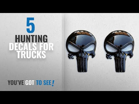 Top 10 Hunting Decals For Trucks [2018]: Premium Black 3D Metal Decal / Sticker (2 Pack) - Tactical