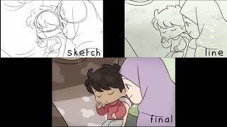 Refugees - Animating Pro¢ess (FireAlpaca + DaVinci)