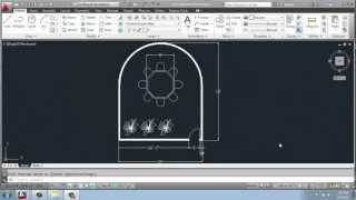 AutoCAD 2013 - 2D Drafting Basics - Part 28 - Conference Room - Curved Wall - Brooke Godfrey