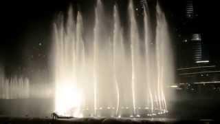 Burj Khalifa Dubai - Fountain Water Show 20.06.2013 - The Dubai Fountain