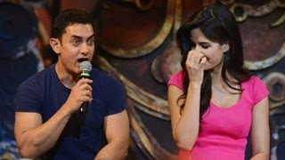Aamir Khan REACTS to Salman Katrina WEDDING at Dhoom 3 Song Launch