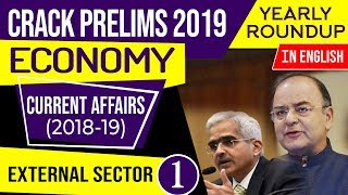 UPSC CSE Prelims 2019 Indian Economy Current Affairs 2018-19 yearly roundup, Set 4 in English