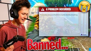 Kid Gets BANNED For CHEATING In Fortnite: Battle Royale... | David Vlas