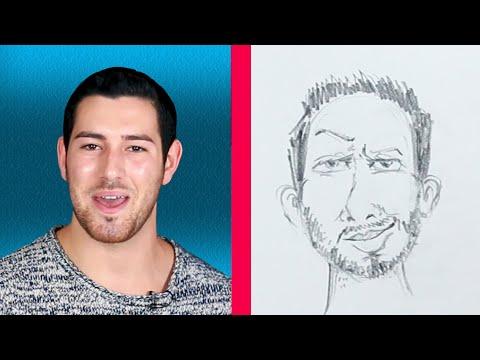 Men Describe Themselves To An Illustrator