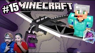 Visitamos al Dragón de Minecraft | Los Enderman se Enojan | Juegos Karim Juega
