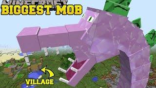 Minecraft: BIGGEST MOB IN MINECRAFT (SPIKEZILLA IS HERE!) Mod Showcase