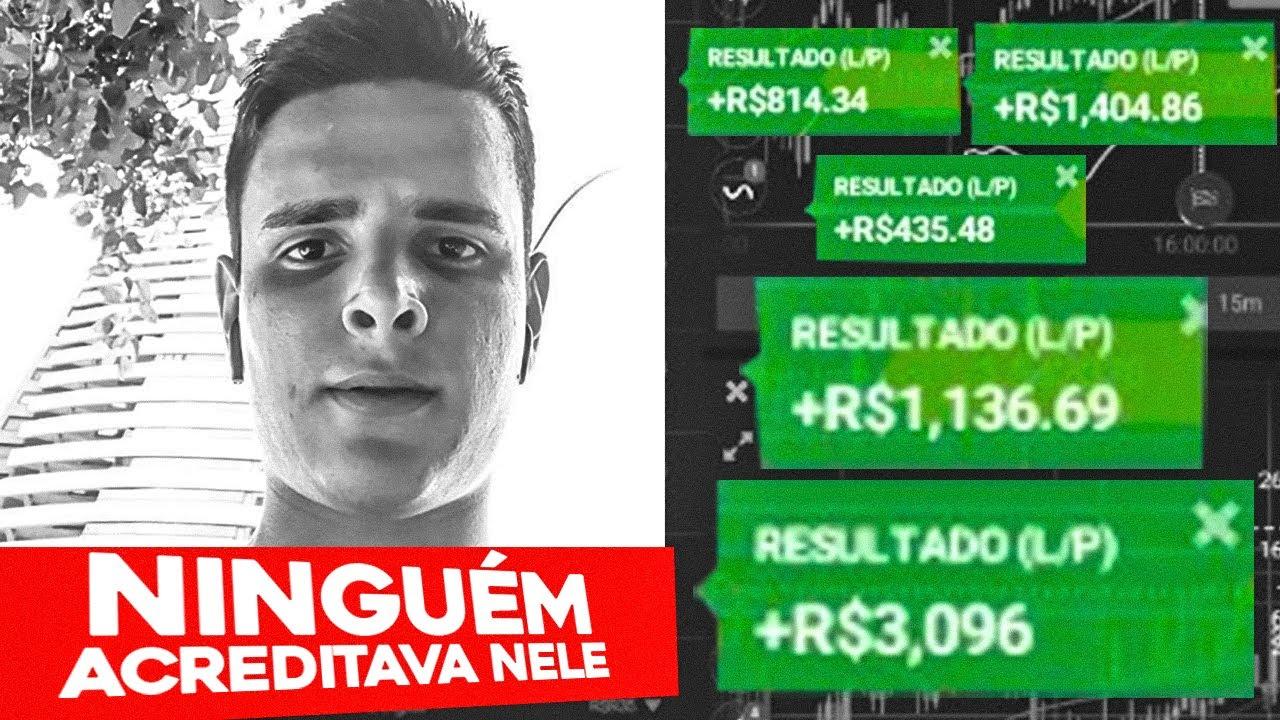 COMEÇOU SEM DINHEIRO EM OPÇÕES BINÁRIAS E HOJE FAZ R$8.000 TODO MÊS (ele explicou sua estratégia)