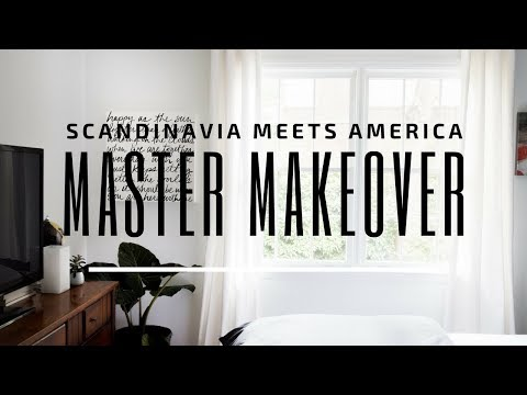 Bedroom Makeover!! Scandinavian Modern Meets an American Master Bedroom!