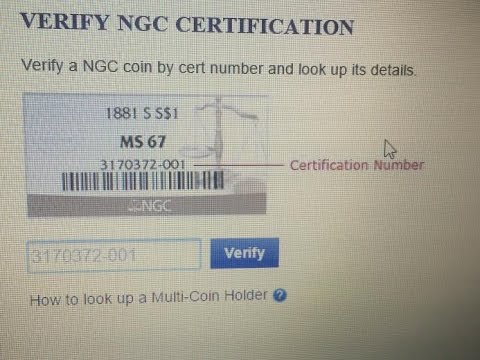 Get FREE verifying of NGC & PCGS silver gold coin certification slab numbers