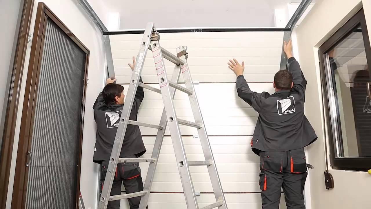 Portes de garage sectionnelles mca benefit xl fr hd youtube for Porte de garage mca