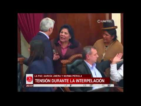 Durante la apelación hubo discusión entre García Linera y Norma Piérola