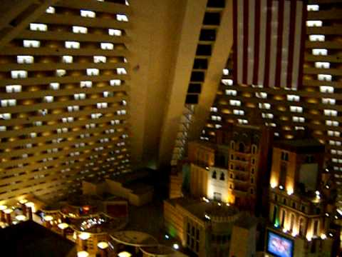 Throwing Paper airplanes inside the Luxor Hotel - take 1 (worst throw)