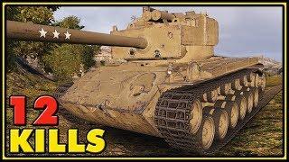 T26E4 SuperPershing - 12 Kills - 1 vs 5 - World of Tanks Gameplay