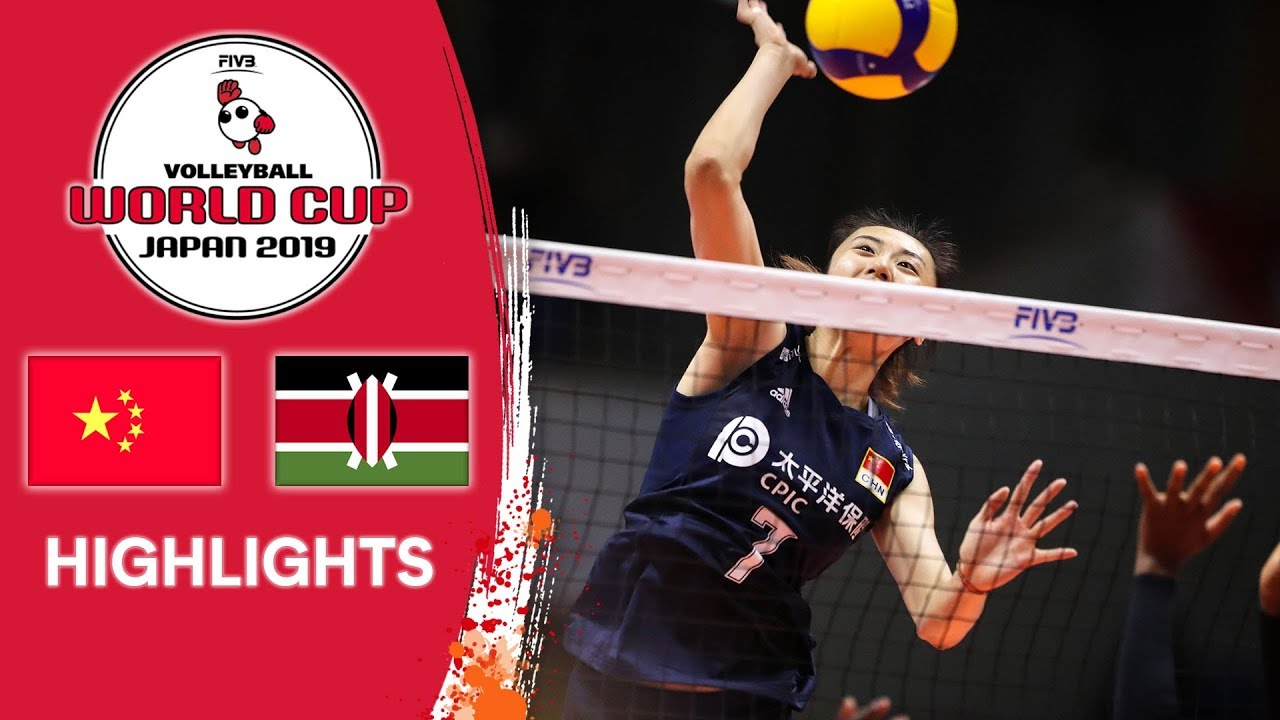 China Vs Kenya Highlights Women S Volleyball World Cup 2019 Youtube