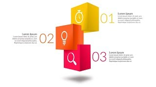 3D cubes powerpoint infographic. Powerpoint tricks