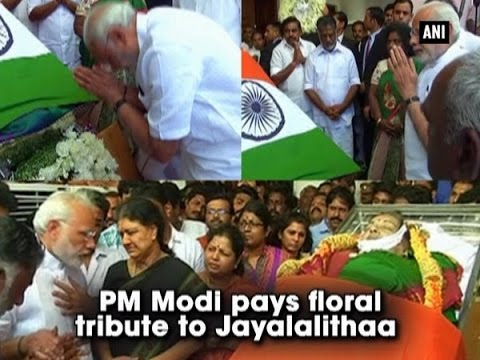 PM Modi pays floral tribute to Jayalalithaa - ANI News