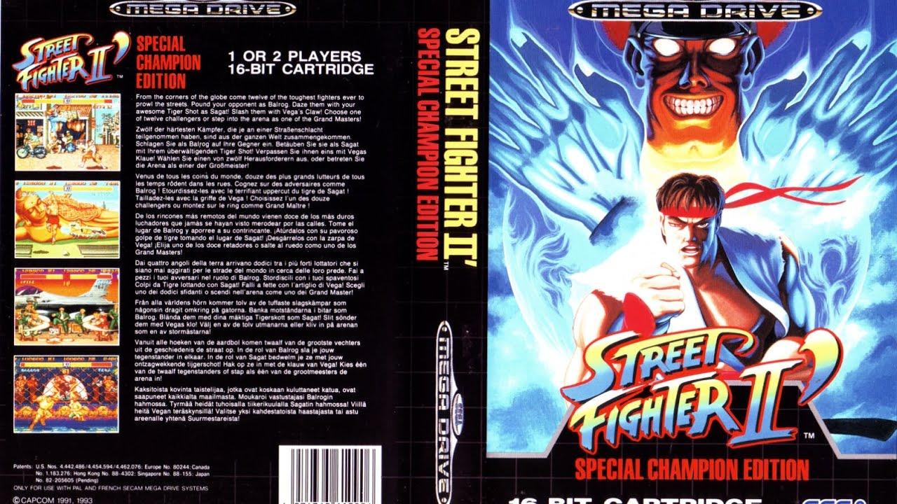 Street Fighter II (Champion Edition) - Sega Megadrive/Genesis - (Full Game)  Longplay [026]