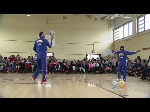 Harlem Globetrotters Stop By Widener Memorial School