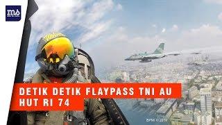 Keren Aksi Flaypass TNI AU Beraksi di Atas Istana Merdeka HUT RI 74