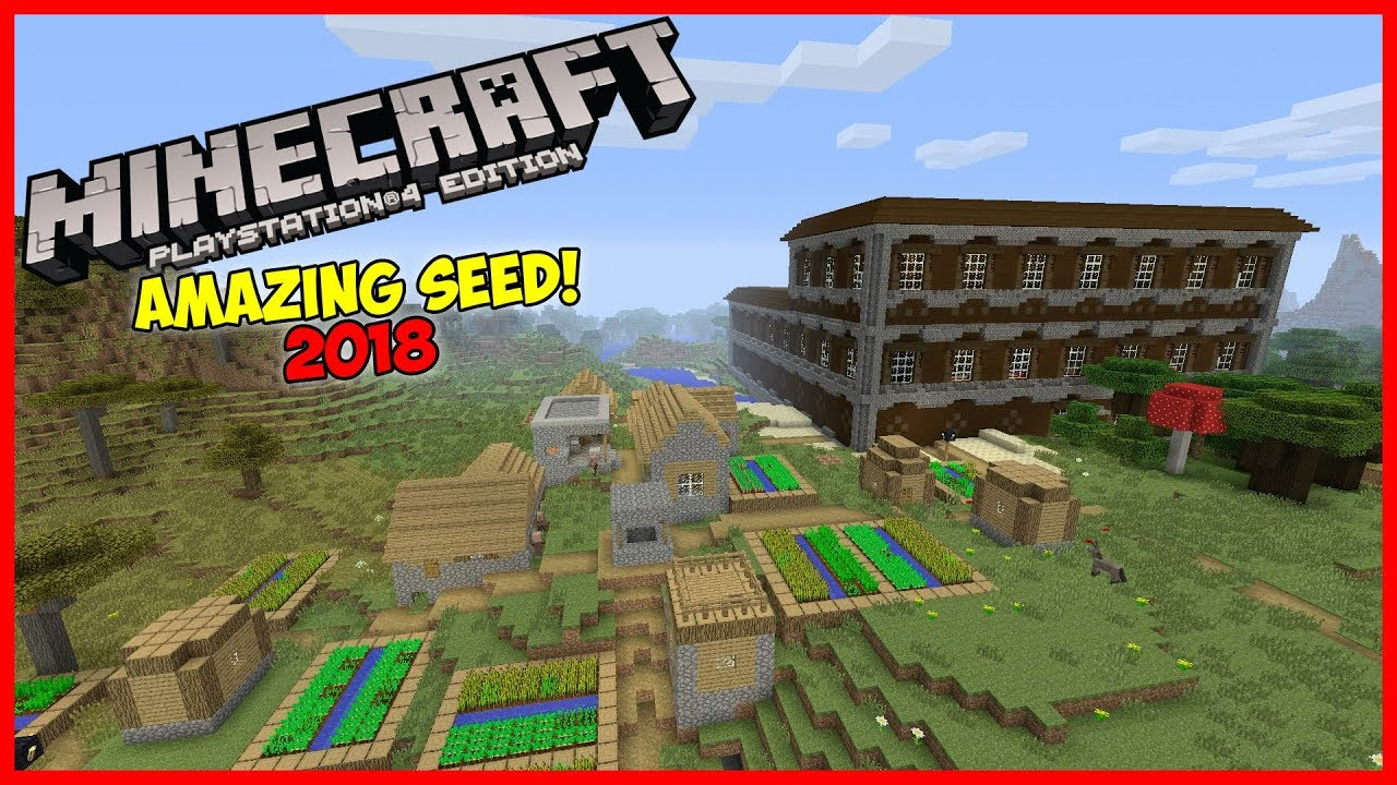 Minecraft Ps4 Xbox One Amazing Seed 2018 2 Mansions 4 Villages And More Youtube