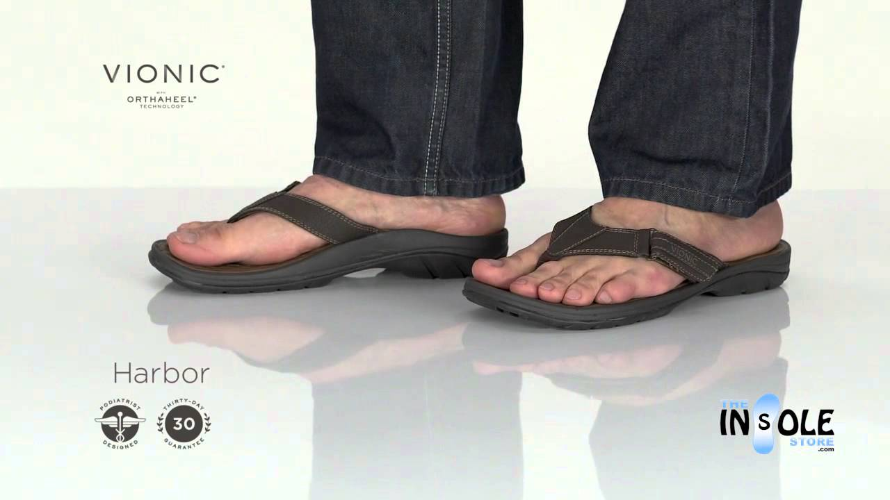 ae7ad3442 Vionic Orthaheel Black Harbor Sandals for Men @TheInsoleStore.com - YouTube