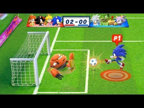 Mario & Sonic At The London 2012 Olympic Games Football Soinc, Peach, Shadow and Daisy