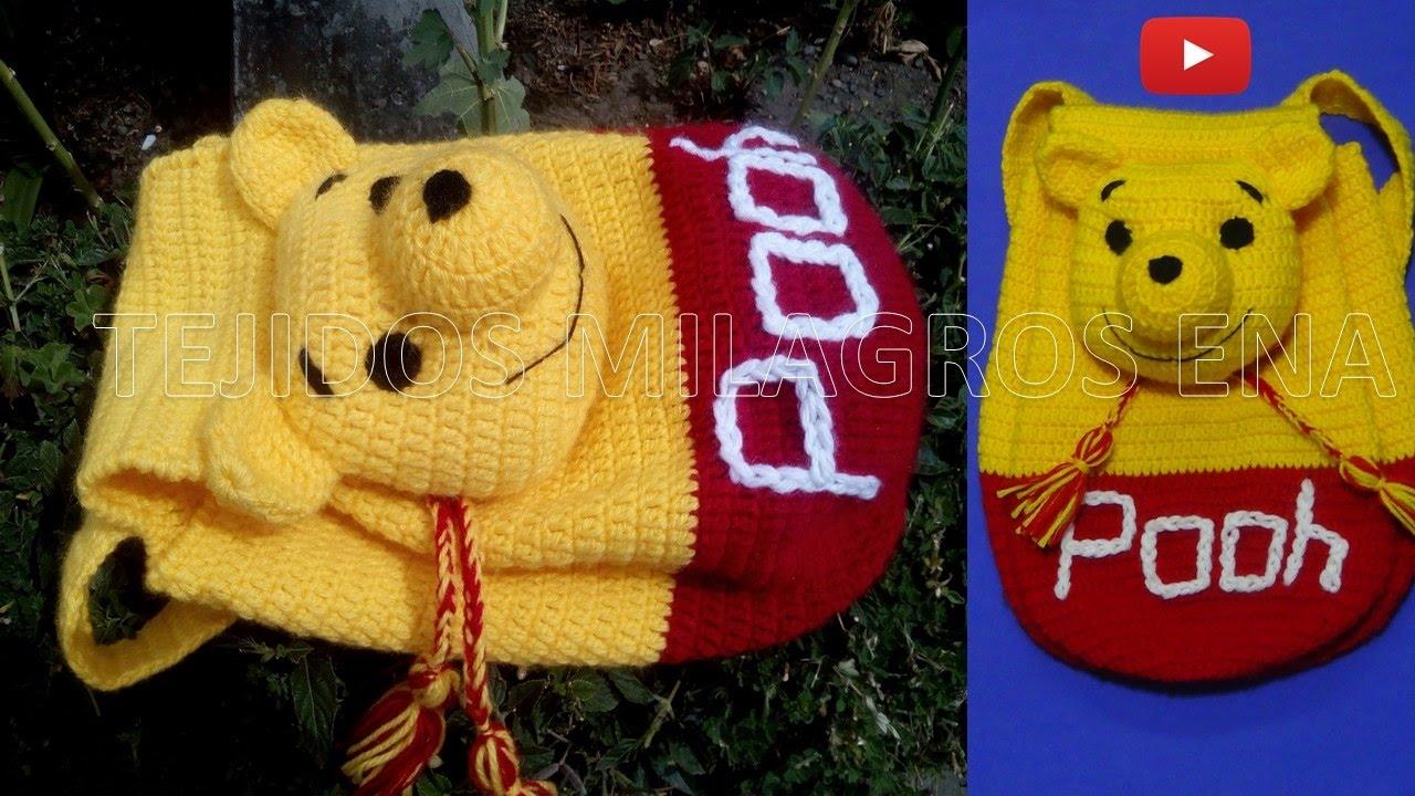 Mochila o Morral de WINNIE POOH tejido a crochet o ganchillo PARTE 2 ...