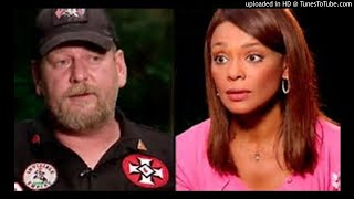 White supremacist threatens a Black Latina during a TV interview