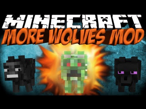 More Wolves Mod: Minecraft Wolves+ Mod Showcase - Wither, Ender, Creeper Wolves!