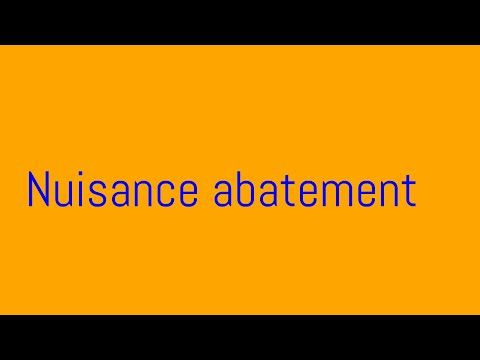 What is abatement | information about nuisance abatement