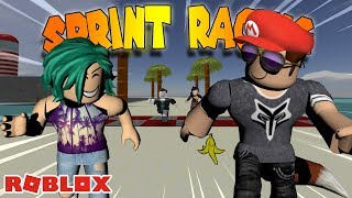 MARIO KART IN ROBLOX?!? -- ROBLOX Sprint Racing w/ my daughter