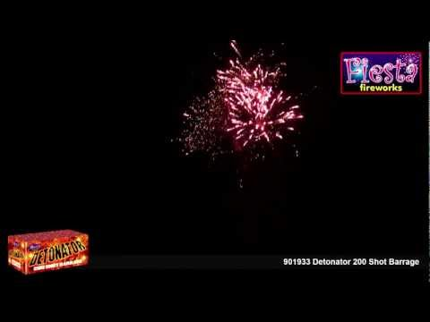 Fiesta Fireworks - 901933 Detonator 200 Shot Barrage