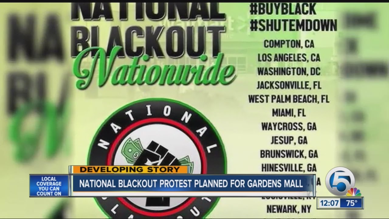 National Blackout\' protest planned at Palm Beach Gardens Mall - YouTube