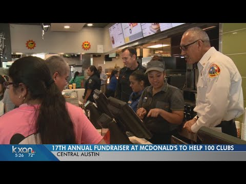 McDonald's restaurants donate 20 percent of sales to 100 Clubs