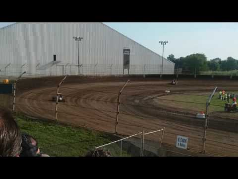 USAC Midget Hot Laps  Kokomo Speedway