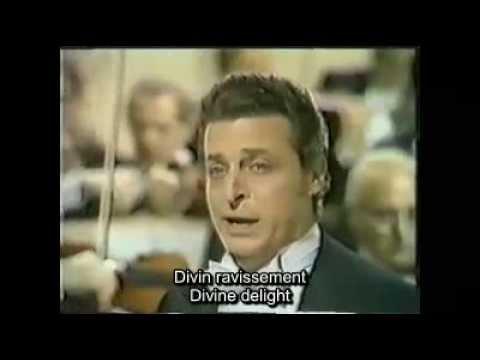 Je crois entendre Bizet les pêcheurs de perles Alfredo Kraus French and English subtitles