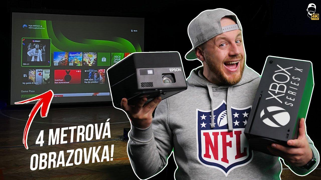 🎮 Můj Herní Setup: Xbox Series X na ČTYŘMETROVÉ obrazovce! | WR Studio [4K]